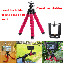 Hot Flexible Tripod to Camera Tripod Head Tablet Mobile Phone Holder for iPhone 5s Stick Tripe Para Celular Video Tripod