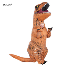 Kids Inflatable costume Dinosaur Costume Dino Suit cartoon characters fancy dress T-Rex Costume Blow Up animal mascots Cosplay(China)