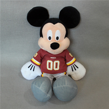 free shipping 40cm Original NFL Mickey Mouse plush soft doll, Colts Steelers Giants Redskinsstuffed toys for boy toys