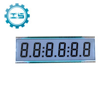 D139 6 Digit 7 Segment LCD Display Module LCD Screen  Static Driving TN Positive Display 5V 137.16x46.38x2.8mm Refiner Display