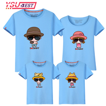 2017 New Design Family Clothing Spring Summer Short Sleeve Father Mother Daughter Son Girl Boy T-shirt Family Matching Clothes(China)