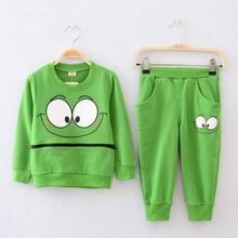 Kids Sports Wear 2017 New Casual Tracksuit for Boys Girls Spring Autumn Children Clothing Set Smiling Face Sport Suits(China)