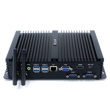 Fanless Industrial Mini PC Windows 10 Rugged ITX Aluminum Case Intel Core i5 4200u Nettop TV Box core i7 5550U Minipc