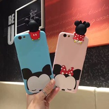 Funny Minnie Mickey Mouse Donald Daisy Duck Soft Silicone Case for iPhone 7 7plus 6 6s 6Plus 6sPlus Coque Cover Universal(China)