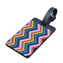 SNNY Portable art waive strip Luggage tag Handbag Tote Bag Large Tag Travel Accessories (Yellow+Blue)(China)