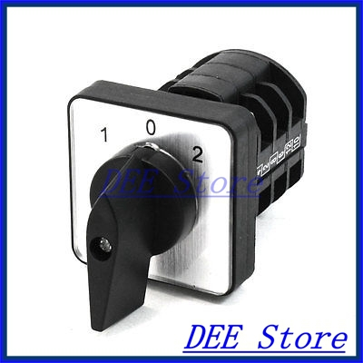 3 Position ON/OFF/ON Panel Mount Rotary Cam Changeover Switch 380V Volt 10A<br><br>Aliexpress