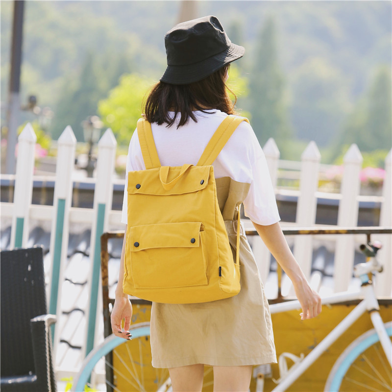 Menghuo Brand Female Women Canvas Backpack Preppy Style School Lady Girl Student School Laptop Bag Cotton Fabric bolsasAVCR4289