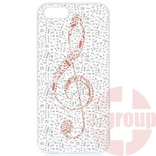 Cover Treble Clef Musical Notes With Red For Samsung Galaxy J1 J2 J3 J5 J7 2016 Core 2 S Win Xcover Trend Duos Grand