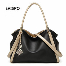 EVISPO Women Bag Pu Leather Tote Brand Name Bag Ladies Handbag Lady Evening Bags Solid Female Messenger Bags Travel Fashion Sac