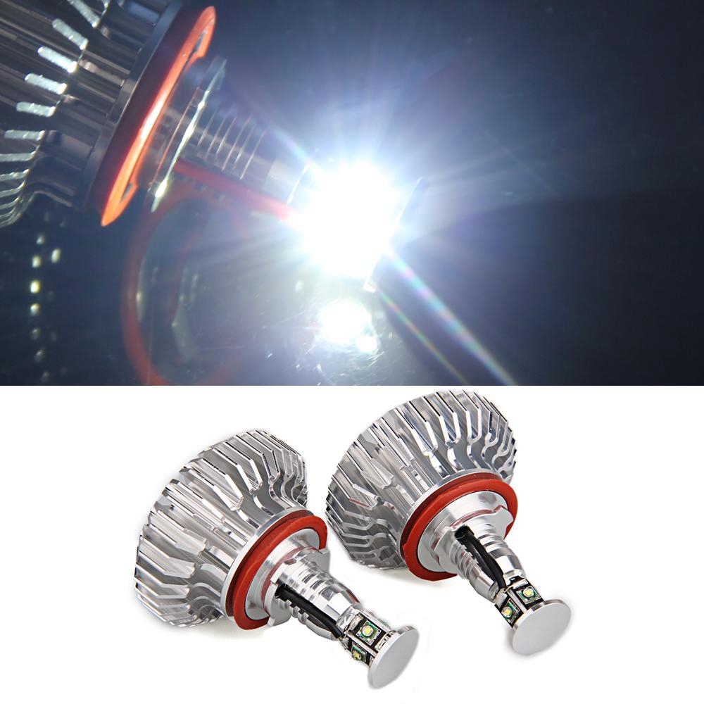 Qook 2 piece H8 4 R3 LED Angel Eyes Light Lamp for BMW E82 E87 E92 M3 E70 X5 E71 X6<br><br>Aliexpress