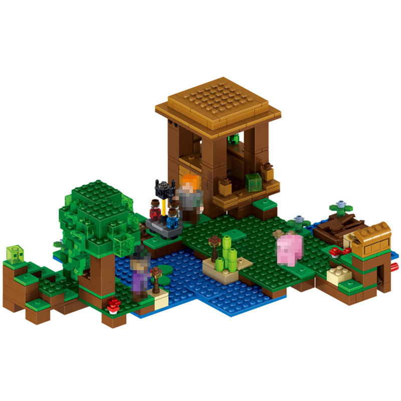 Minecrafter Series the Witch Hut Building Blocks Mine World for Toddlers Clever Construction Toys Compatible LegoINGlys 508 Pcs<br>