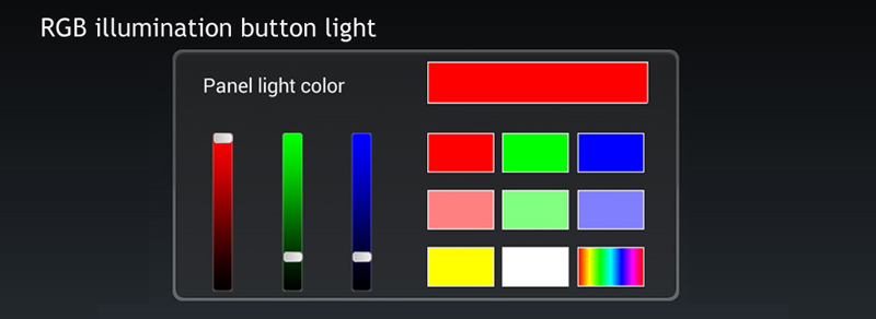 UNIVERSAL 2 DIN ANDROID RGB LIGHT
