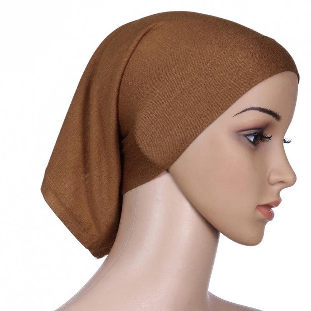 ROPALIA Women Fashion Islamic Hijab Cap Scarf Tube Bonnet Hair Wrap Female  Colorful Head Band 8