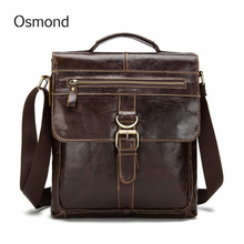 Osmond Genuine Leather Male Bags Fashion Male Crossbody Messenger Bags Men Small Briefcase Business Shoulder Bag Handbag