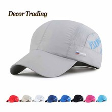 2016 New Summer   Quick Dry  Sun Hat RUSSIA Flag Baseball Cap UV Protect Snapback Net Hat for Men and Women