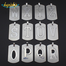 Hapiship New Women/Men's Jewelry Stainless Steel Couple Letter O P Q R S T U V W X Y Z Pendant Short Necklace SS0000  Xmas Gift
