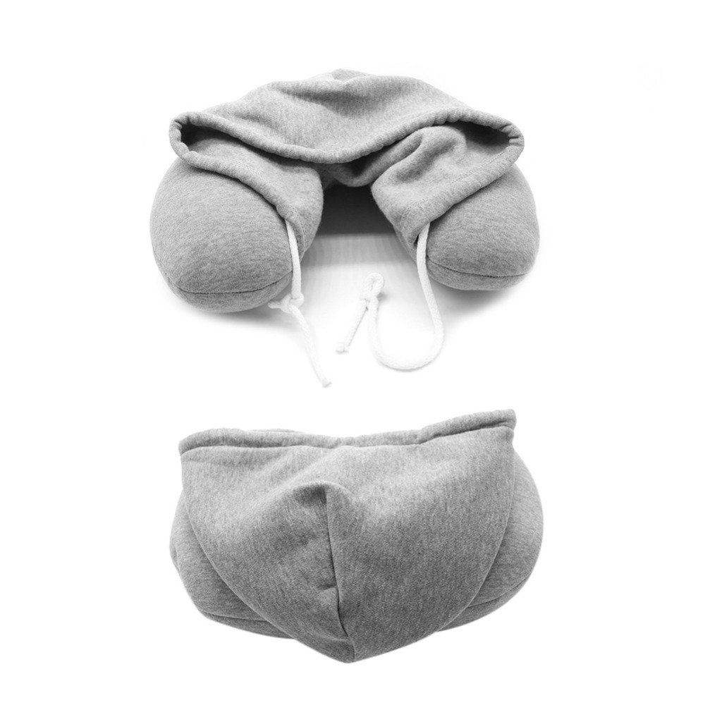 Soft-Hooded-U-pillow-Body-Neck-Pillow-Solid-Grey-Nap-Cotton-Particle-Pillow-Textile-Home-Airplane (1)