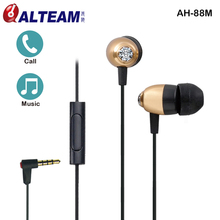 100% Original ALTEAM Comfortable Luxury Bling Zircon Colorful Fashion Stylish Clear Bass Stereo In-Ear Mp3 MP4 Player Earphone