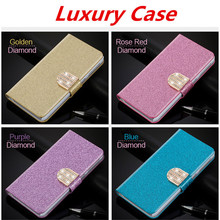 Flip Glitter Case For Samsung Galaxy Mini S5570 Dart T499 PU Leather Rhinestone Diamond Wallet Cover With Card Slot Phone Bag