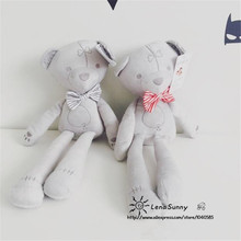 2016 baby toys 42cm height grey color baby bear doll ,Kids Love Chirstmas Bear Toys(China)