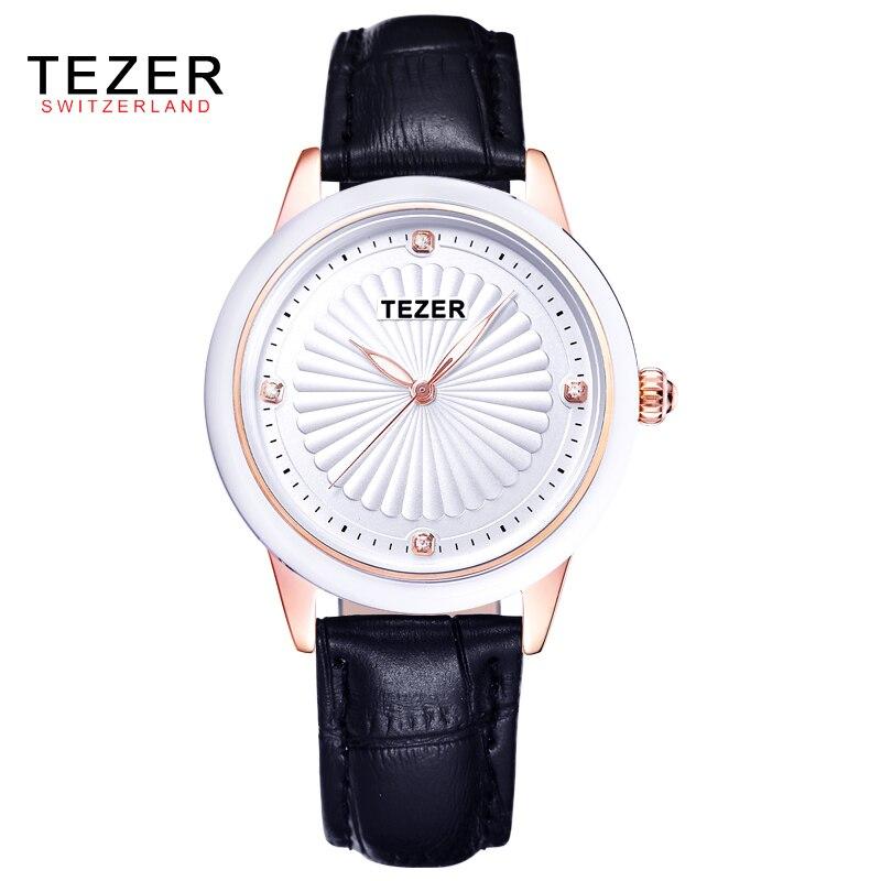 TEZER 2017 Fashion Luxury Watch Women Watches Casual Minimalist Wristwatches Leather Strap WomenS Dress Watch Birthday Gift C70<br><br>Aliexpress