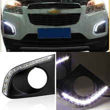 Ownsun Brand New Updated LED Daytime Running Lights DRL With Black Fog Light Cover For Chevrolet Trax 2014-2015(China)