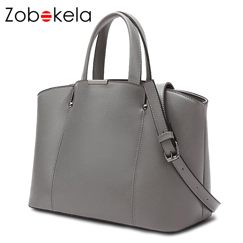 Zobokela Women Leather Handbags Female Bags Famous Brands Pers Las Shoulder Bag Luxury