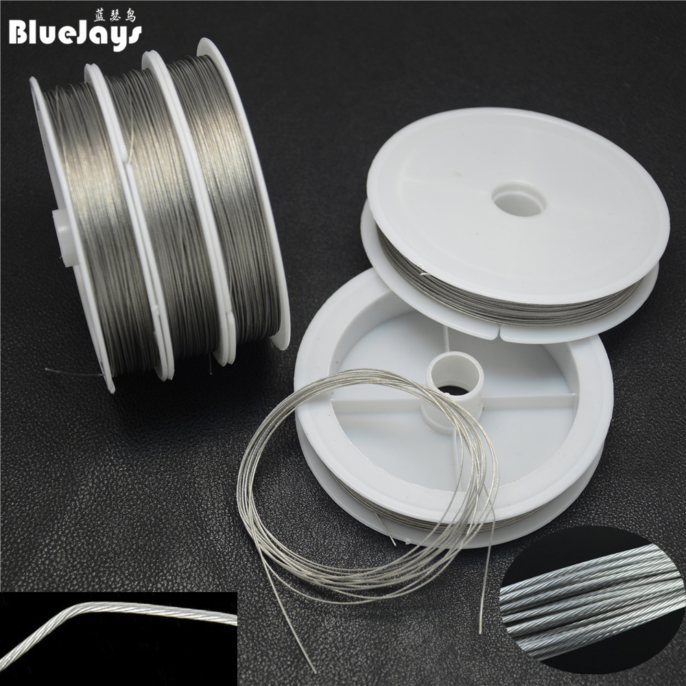 Fishing steel wire Fishing lines 50m-8m max power 7 strands super soft wire lines Cover with plastic Waterproof free shipping(China (Mainland))