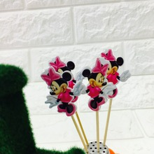 10PCS/LOT MINNIE MOUSE CAKE TOPPER CAKE PICK MINNIE MOUSE CAKE PICKER CAKE DECORATION PARTY SUPPLIES BIRTHDAY WEDDING DECORATION