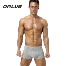 ORLVS Brand Men Underwear Boxers Home Sexy Men Boxers Spandex Modal Underpants Boxers Male Pouch Shorts Boxer H1(China)