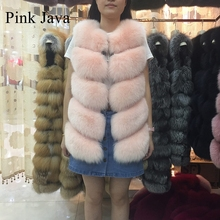 Buy Pinkjava 8006 2017 New Arrival Free Women Coat Full Pelt Real Fox Fur Long Vest Genuine Leather Gilet Wholesale for $350.00 in AliExpress store
