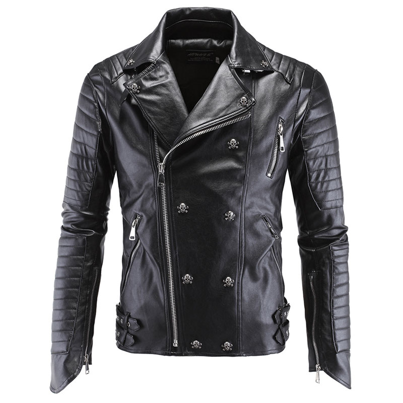 skull leather jacket men 01