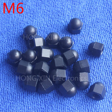 M6 1 pcs Black Nylon acorn nuts /6mm Protection Dome Head hex Cover Nuts/Plastic hexagon Cap Nut brand new high-quality