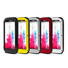 Original Love Mei Powerful Case For LG G3 D855 Waterproof Shockproof Aluminum Case Cover + Tempered Glass(China)
