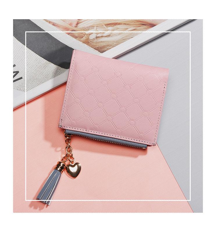 PU Leather,wallet female,wallet female women zipper,Fashion,Casual,Vintage,Black,Red,Brown,Blue,Pink wallet female leather (4)