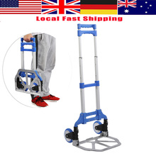 80kg Folding Heavy Duty Luggage Trolley Foldable Hand Truck Trolley 80kg Aluminium Alloy Luggage Carts Shopping Wheels(China)