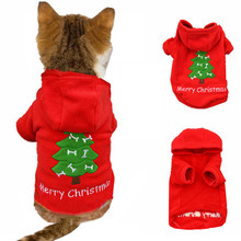 Christmas Cat Clothes For Cat Costume Clothes For Small Cats Pet Puppy Clothes Hoodies Winter Clothes For Chihuahua Teddy 30F1(China)