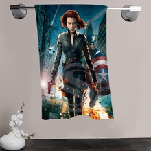 H-P&19 Custom Big Size 140cmx70cm Cotton Bath Towel Black Widow #6 Shower Towel For your family SQ00908-@H019