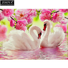 ZOOYA 5d diy diamond embroidery swan lover diamond painting Cross Stitch full square drill Rhinestone mosaic decoration MX