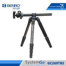 Benro GC269TB2 Tripod Carbon Fiber Monopod Tripods For Camera With B2 Ballhead 5 Section Max Loading 14kg DHL Free Shipping(China)