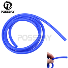 POSSBAY Universal 2 Meter 3mm/4mm/6mm/7mm Silicone Vacuum Tube Hose Silicon Tubing Blue Red Car Accessories