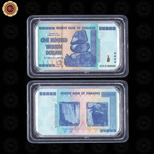 WR quality home decorative art crafts one hundred trillion 999.9 silver bar unique gifts zimbabwe bill note fake bars 50*28*3mm
