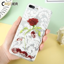 Caseier Phone Case For iPhone 6 6s Plus Bling Diamond Silicone Rose Coque For iPhone 5 5s SE beauty kawaii Shell Capinha Capa(China)
