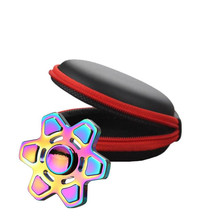 Randon color Fidget Hand Spinner holder case gift for Toy Focus ADHD Autism Bag Outdoor Carry Case Packet drop shipping