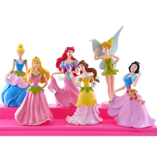 12pcs/lot High Quality PVC Cartoon Anime White Snow Princess Action Figure Girls Gift Beatiful TinkerBell Toy