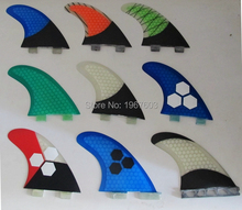 fiberglass honeycomb green Blue surfboard fin thruster Future FCS surf fins size G5 carbon Top qual(China)