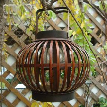 Fashion Vintage Handmade Bamboo Lantern  Vintage Retro Candle holder Antique Wedding Home Garden Bar Bamboo Lantern