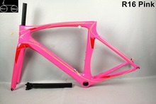 Pink raod bike for women Toray T1100 carbon road bike frame Di2 and Mechanical Both carbon road bike road bike carbon frame(China)