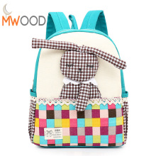 2017 New Cute Rabbit Backpack Children Kids Bagpack Kindergarten Backpacks High Quality Small Lace Back Pack Little Girls Backpa
