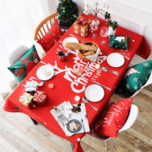 Buy Christmas pattern Green Red cotton linen tablecloth Dinning Table Tea Tables Table cloth for $22.99 in AliExpress store